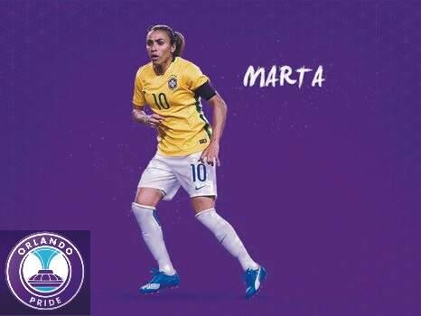 Orlando Pride contrata a estrela brasileira Marta